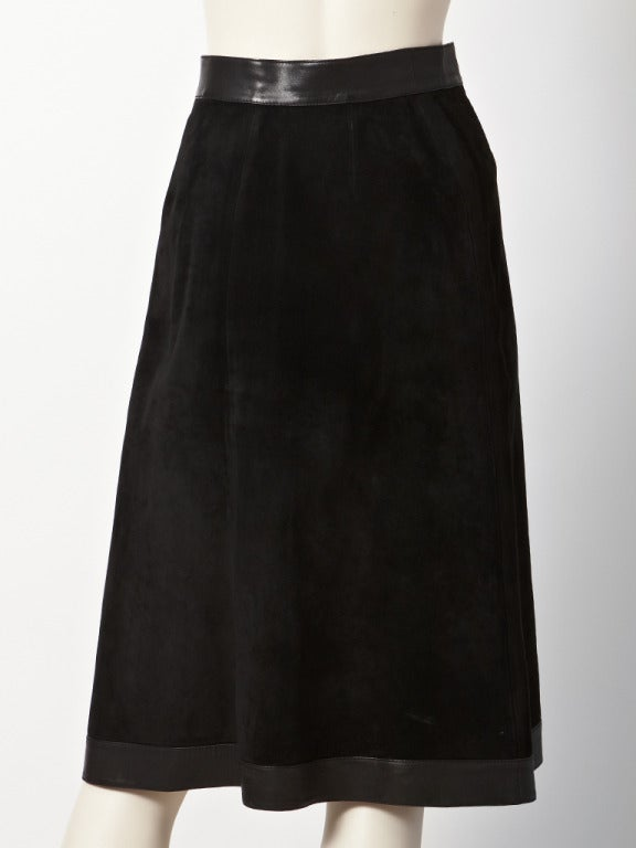 gucci suede and leather skirt at 1stdibs