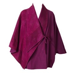 Ronaldus Shamask Wool and Suede Poncho