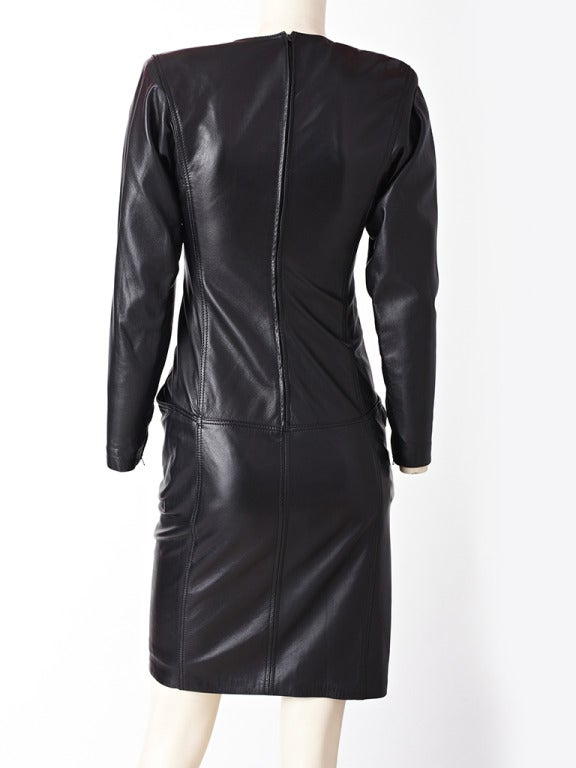 Ungaro Leather Dress 3