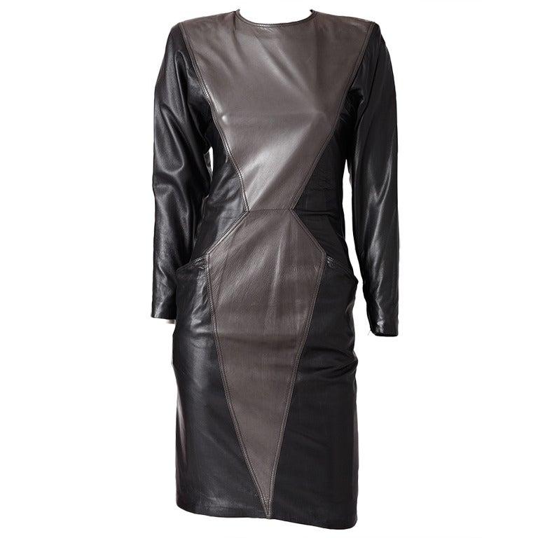 Ungaro Leather Dress 1