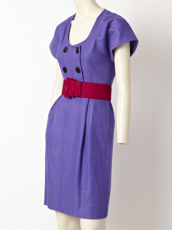 Geoffrey Beene Linen Day Dress 2