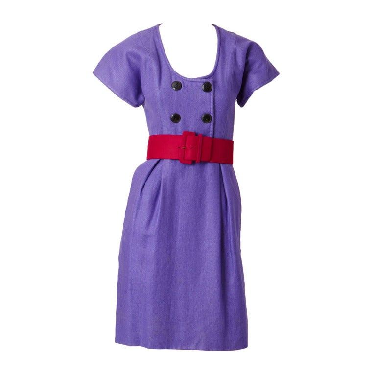 Geoffrey Beene Linen Day Dress 1