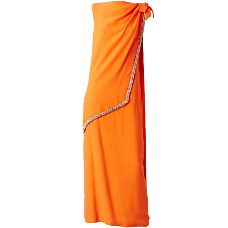 Geoffrey Beene Crepe Toga Dress