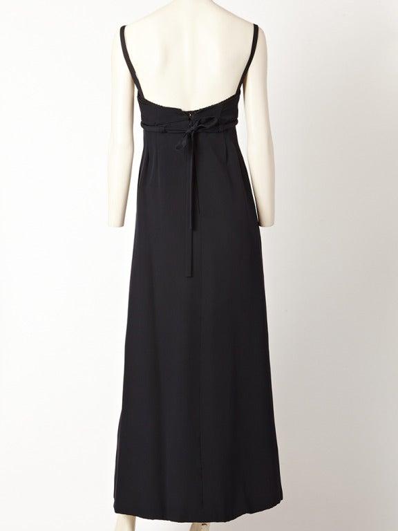 Pauline Trigere Empire Waist Gown 3