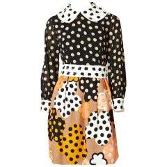 Burke Amey Polka Dot Mini Dress