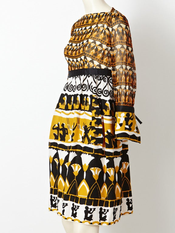 Burke-Amey African Inspired Print Dress 2