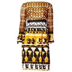 Burke-Amey African Inspired Print Dress