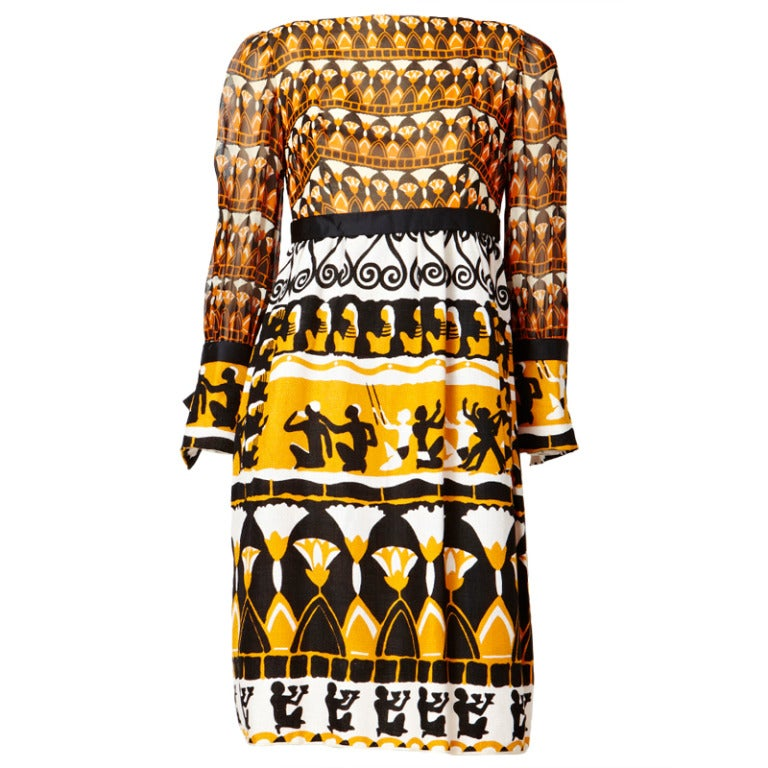 Burke-Amey African Inspired Print Dress 1