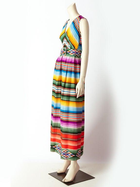 Traina Serape Print Halter Dress At 1stdibs