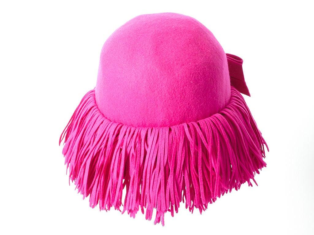 Fuchsia Fringed Hat 3