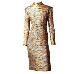 Tiger Print Cocktail Dress