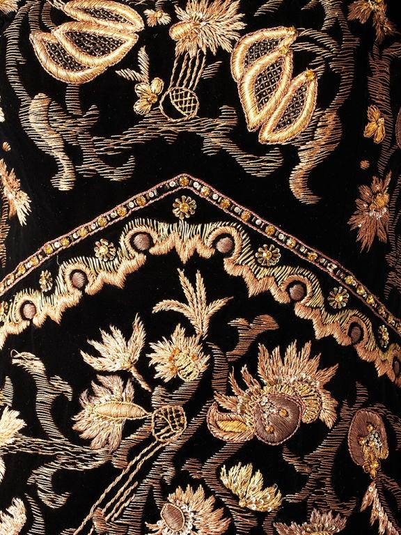 Lanvin Castillo Embroidered Velvet Dress 3
