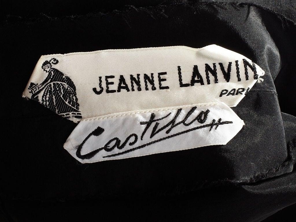 Lanvin Castillo Embroidered Velvet Dress 5