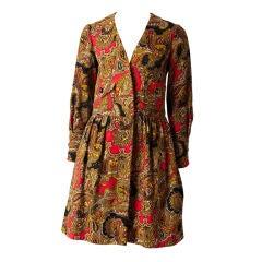 Galanos Wool Paisley Day Dress