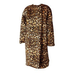 Patrick Kelly Leopard Print Quilted Coat