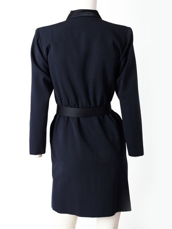 Black YSL Tuxedo Dress For Sale