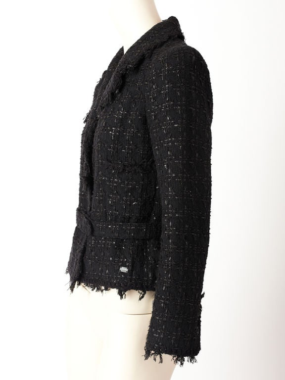 Chanel Tweed and Fringed Jacket 2