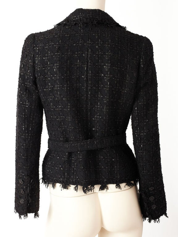 Chanel Tweed and Fringed Jacket 3