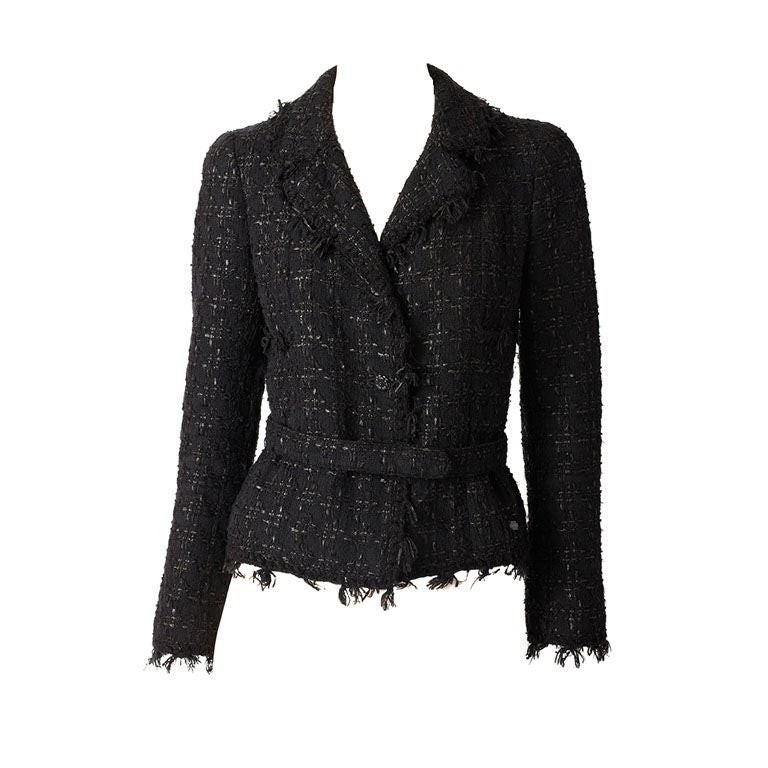 Chanel Tweed and Fringed Jacket 1