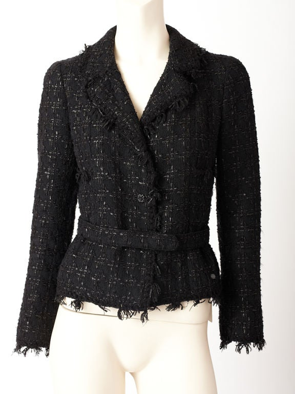 Chanel Tweed and Fringed Jacket 5