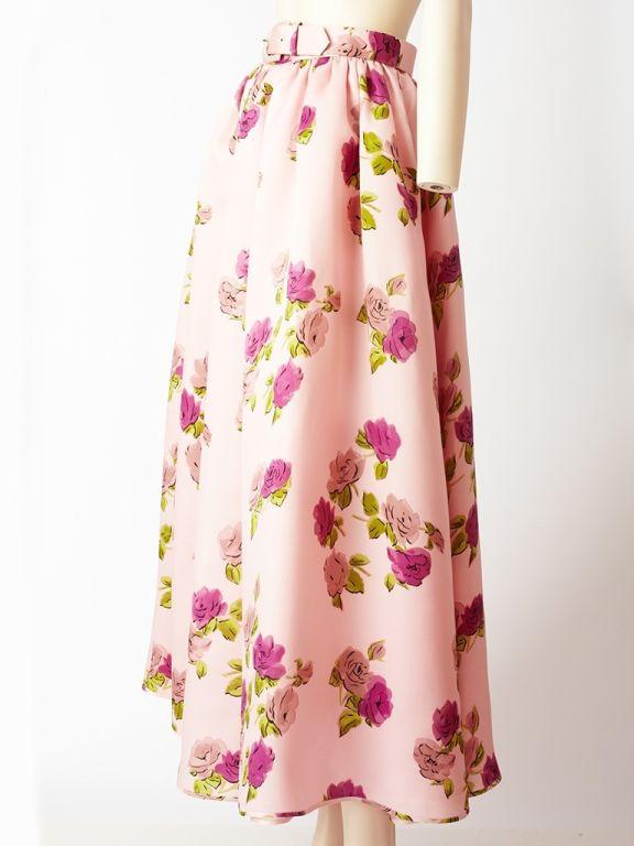 Oscar de la Renta Floral Print Skirt 2
