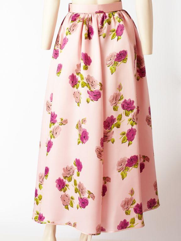 Oscar de la Renta Floral Print Skirt 3