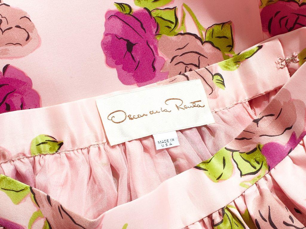Oscar de la Renta Floral Print Skirt 4