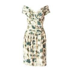 Victor Edelstein Floral Print Dress