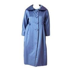 Ben Zuckerman Duchess Satin Evening Coat