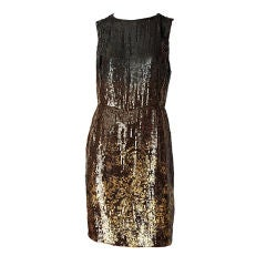 Oscar de la Renta Sequined Cocktail Dress