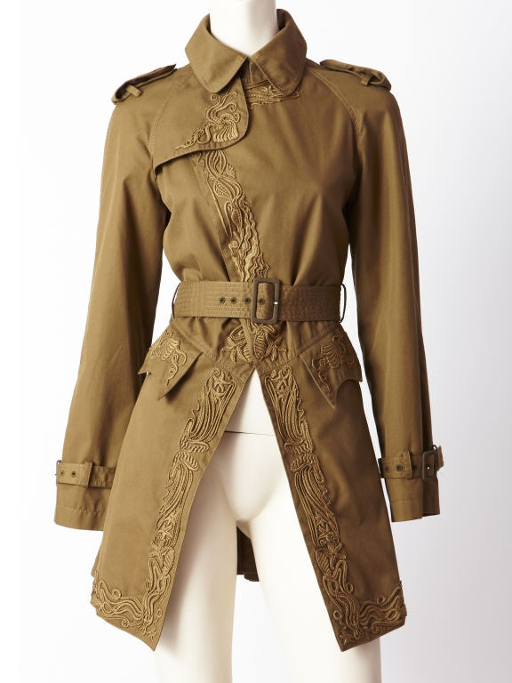 Gautier Embroidered Trench 5