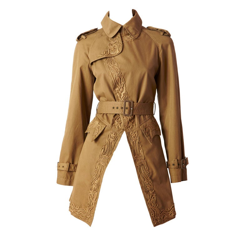 Gautier Embroidered Trench 1