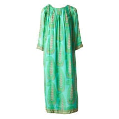 Treacy Lowe Bohemian Paisley Print Silk Dress