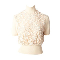 Valentino Lace Beaded Sweater