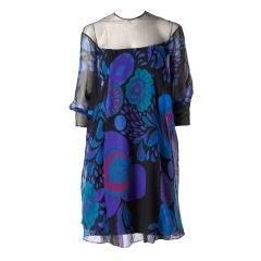 Jacques Heim Silk Organza Cocktail Dress