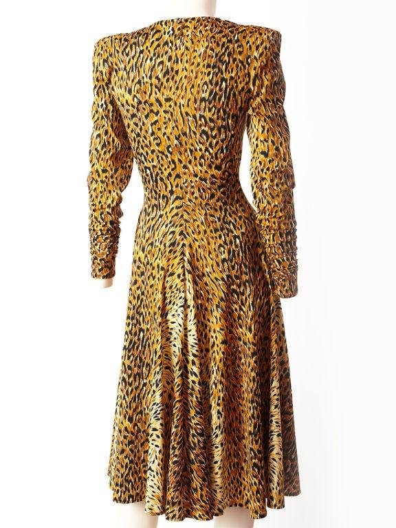 Norma Kamali Leopard Print Jersey Dress 1