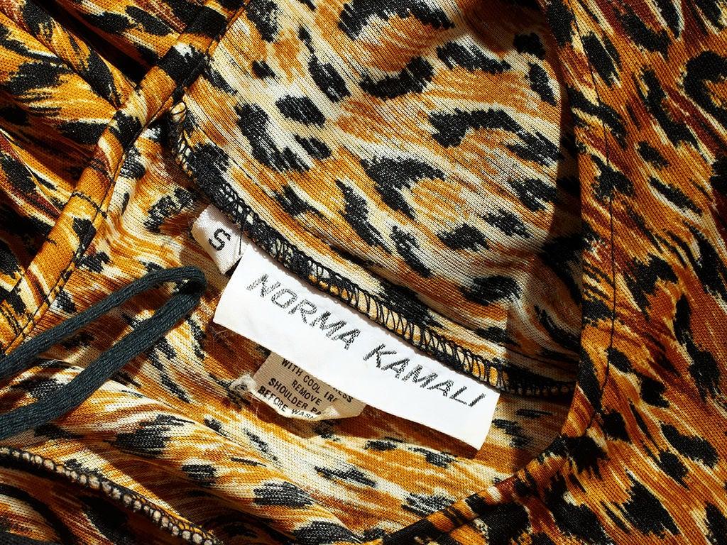 Norma Kamali Leopard Print Jersey Dress 2