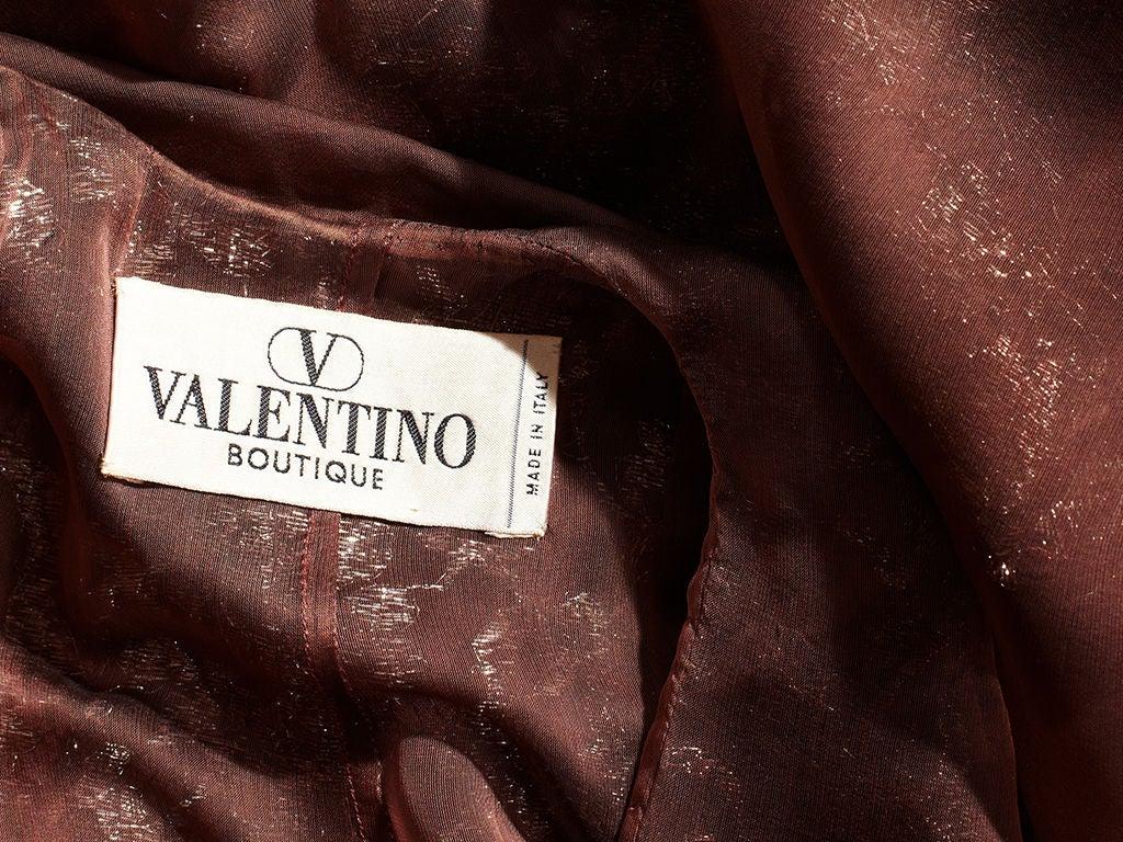 Valentino Metallic Lace and Chiffon Gown 5