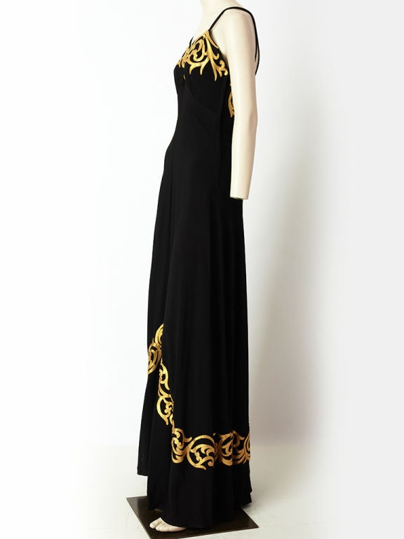 Women's 1940's Evening Gown For Sale