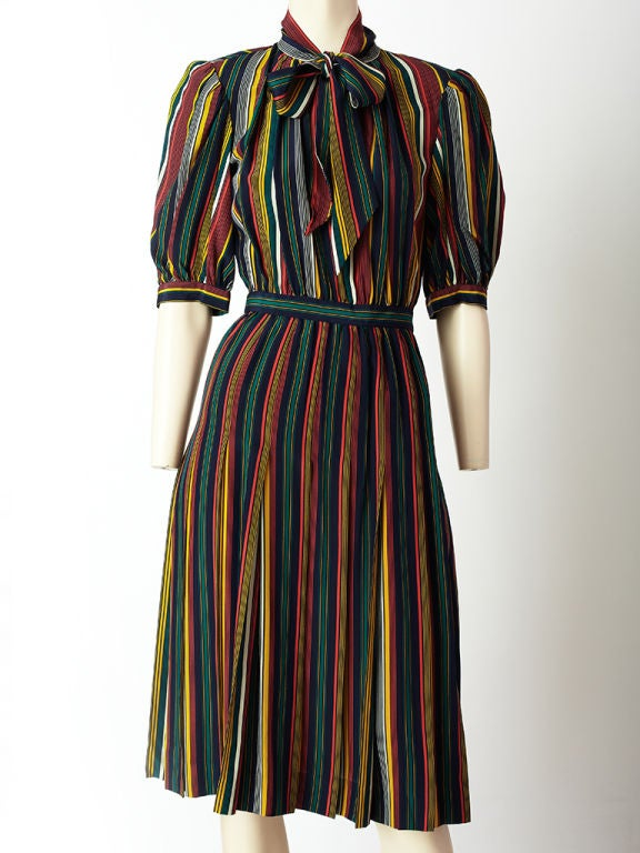 Yves St. laurent Stripe Day Dress 2