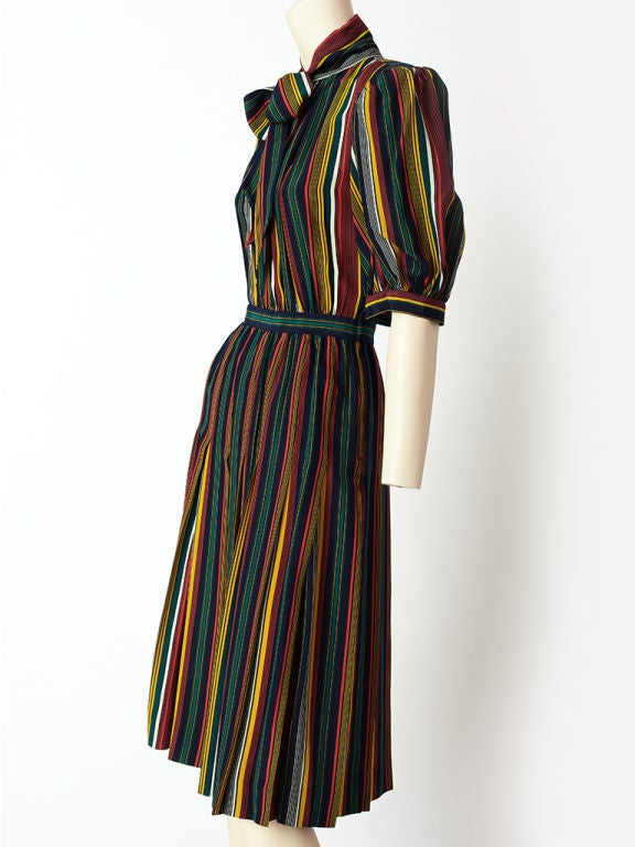 Yves St. laurent Stripe Day Dress 3