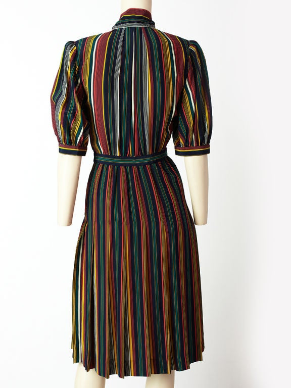 Yves St. laurent Stripe Day Dress 4