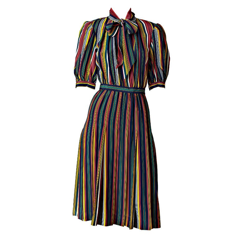 Yves St. laurent Stripe Day Dress 1