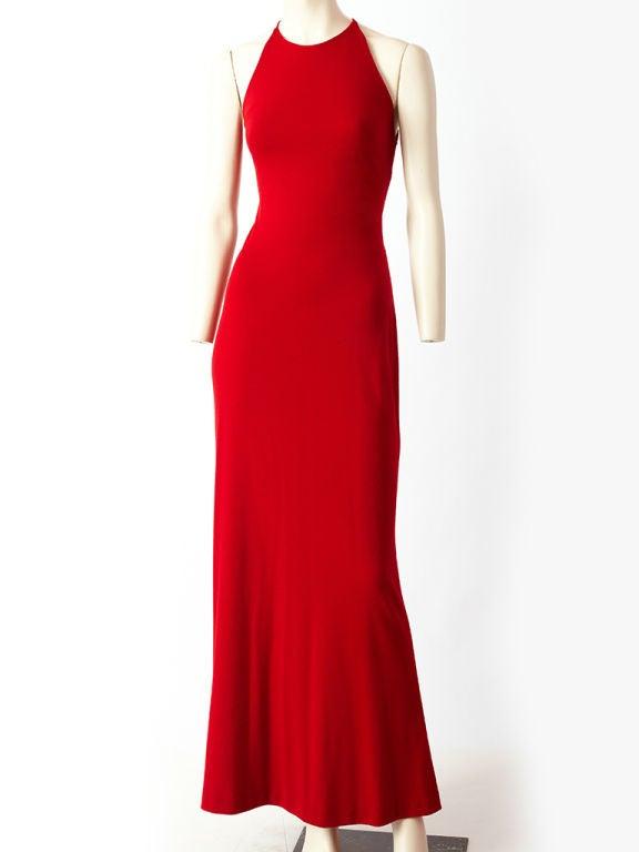 Ann Klein Wool Jersey laced Back Gown 2