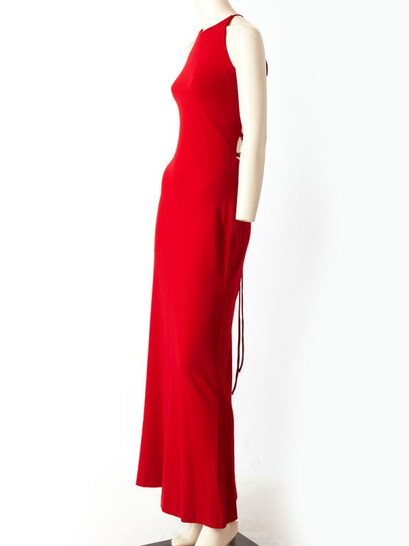 Ann Klein Wool Jersey laced Back Gown 3