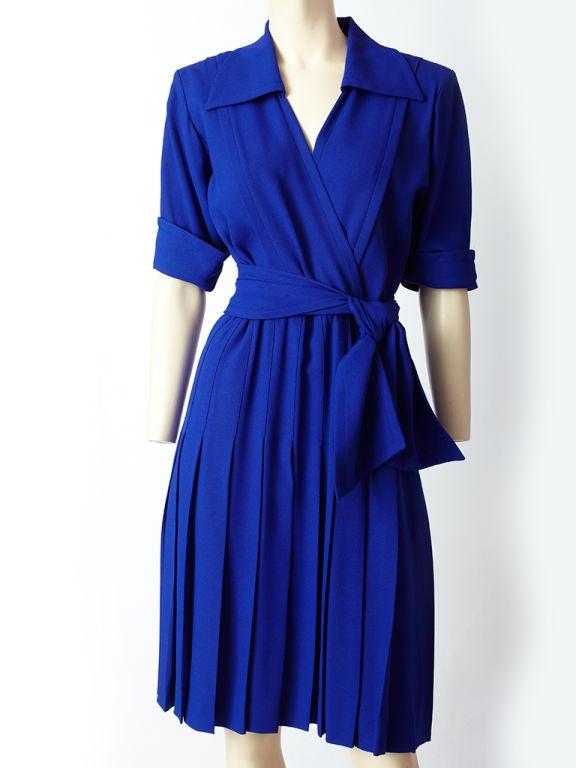 Yves St. laurent Cobolt Blue Day Dress 2