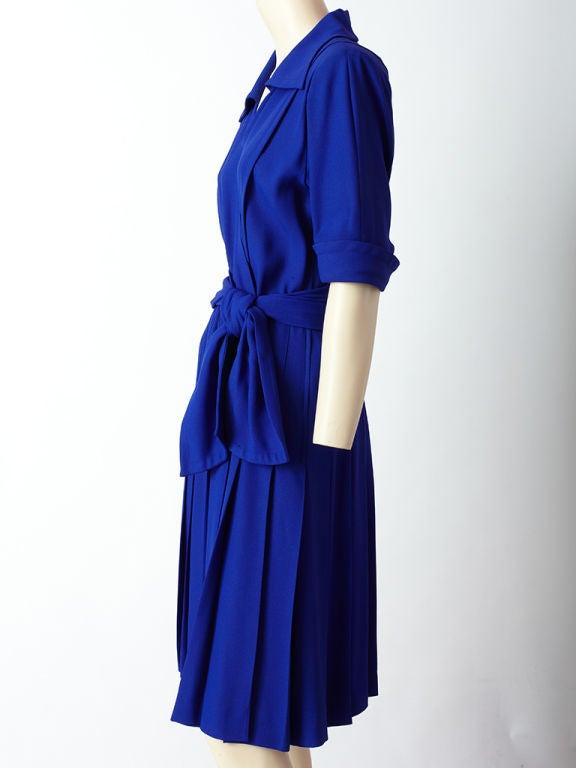 Yves St. laurent Cobolt Blue Day Dress 3