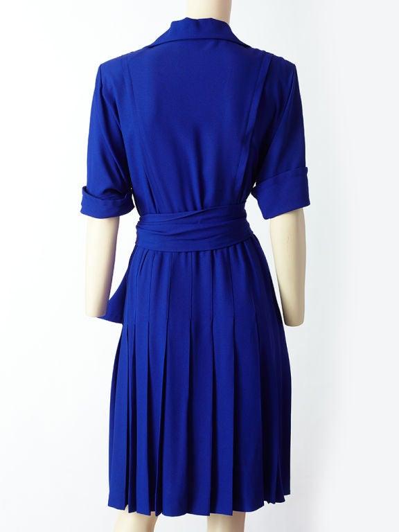Yves St. laurent Cobolt Blue Day Dress 4