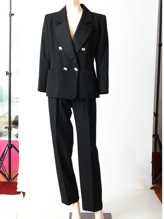 YSL double breasted tuxedo suit with