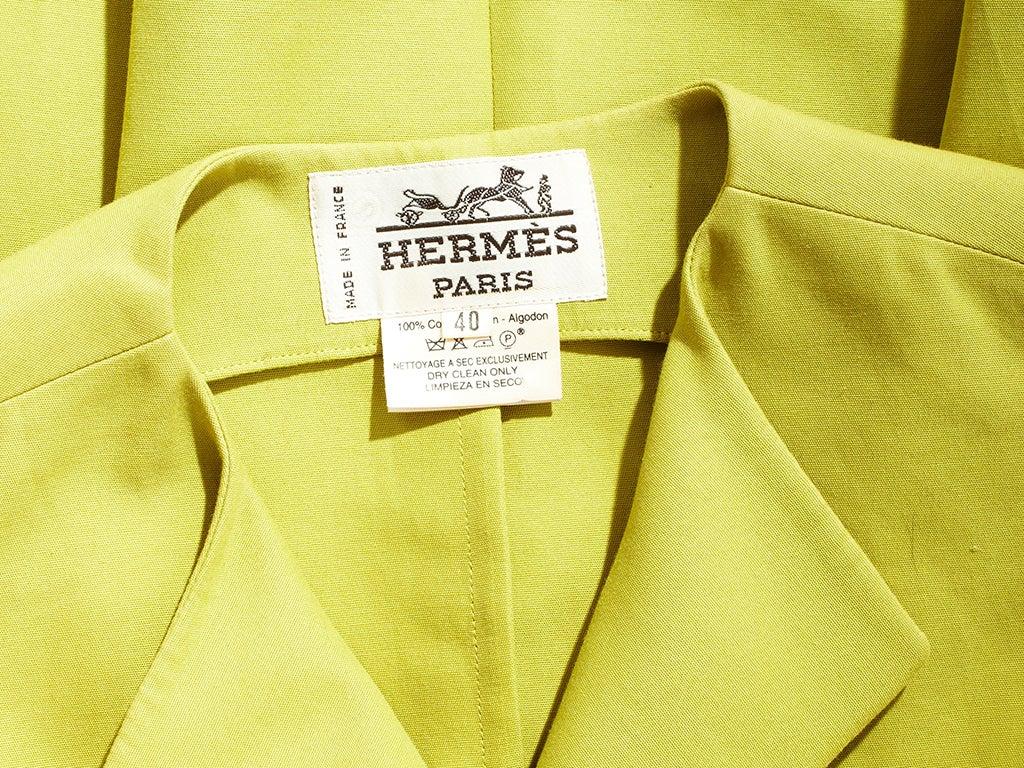 Hermes Chartreuse Sleeves Jacket 5